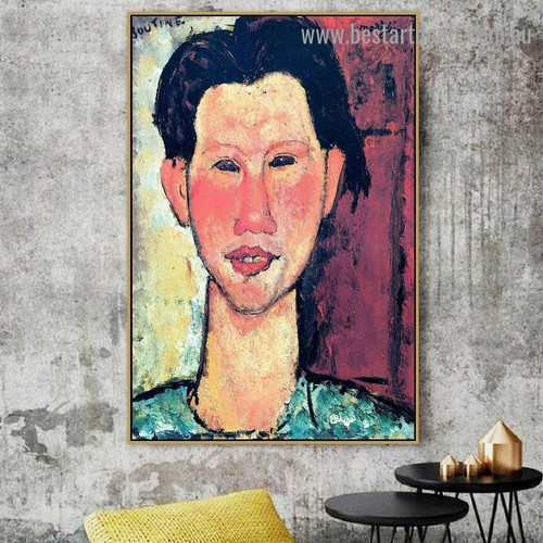 Portrait of Chaim Soutine Amedeo Clemente Modigliani Figure Expressionism Reproduction Portrait Photo Canvas Print for Room Wall Adornment