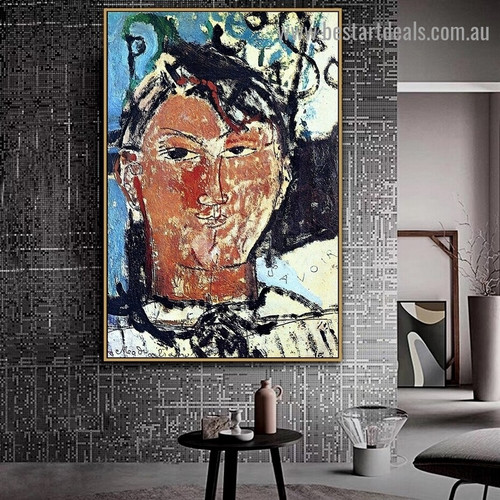 Portrait of Picasso Amedeo Clemente Modigliani Figure Expressionism Reproduction Portrait Painting Canvas Print for Room Wall Adornment