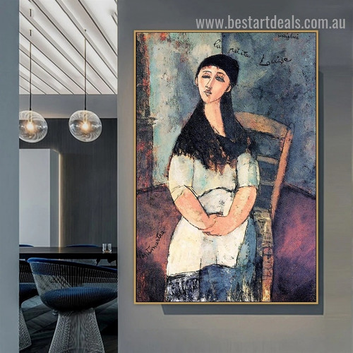 Little Louise Amedeo Clemente Modigliani Figure Expressionism Reproduction Artwork Portrait Canvas Print for Room Wall Ornament