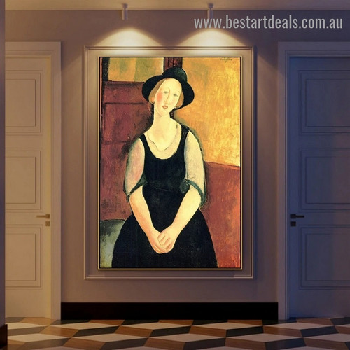 Thora Klinckowstrom Amedeo Clemente Modigliani Figure Expressionism Reproduction Artwork Painting Canvas Print for Room Wall Garniture