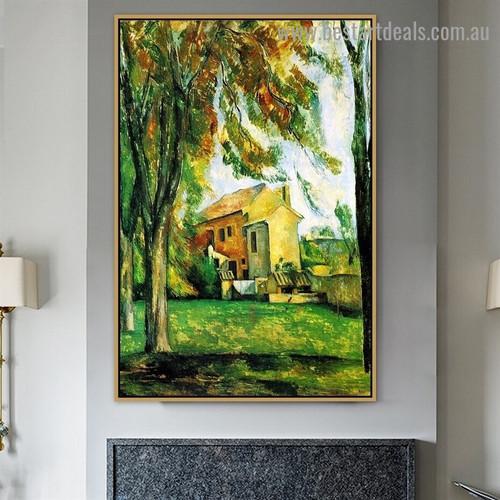 The pond of the Jas de Bouffan Paul Cézanne Landscape Impressionism Reproduction Artwork Image Canvas Print for Room Wall Décor