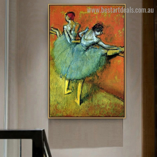 Dancers at the Barre Edgar Degas Figure Impressionist Artwork Photo Canvas Print for Room Wall Adornment