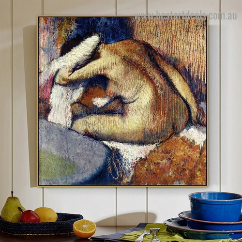 After the Bath 3 Edgar Degas Nude Impressionist Artwork Image Canvas Print for Room Wall Ornament