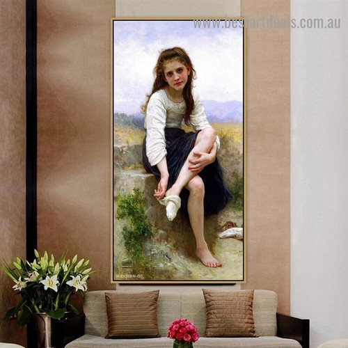 Before The Bath William Adolphe Bouguereau Figure Landscape Neoclassicism Reproduction Portrait Photo Canvas Print for Room Wall Garniture