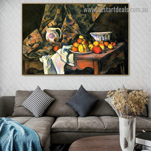 Still Life with Flower Holder Paul Cézanne Post Impressionism Reproduction Portrait Photo Canvas Print for Room Wall Adornment