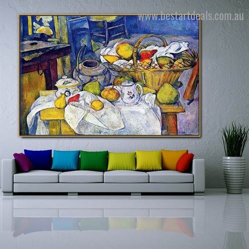 Still Life with Basket Paul Cézanne Post Impressionism Reproduction Artwork Portrait Canvas Print for Room Wall Ornament