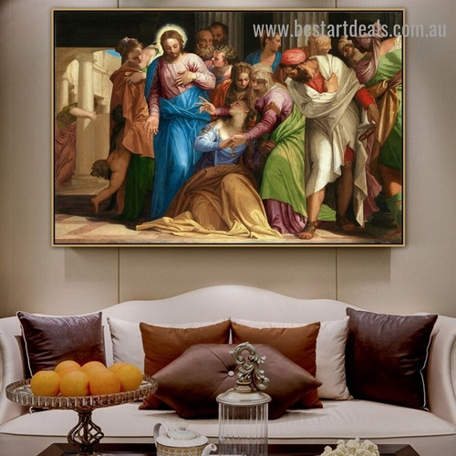 Conversion of Mary Magdalene Paolo Veronese Religious Figure Mannerism Late Renaissance Reproduction Artwork Portrait Canvas Print for Room Wall Ornament