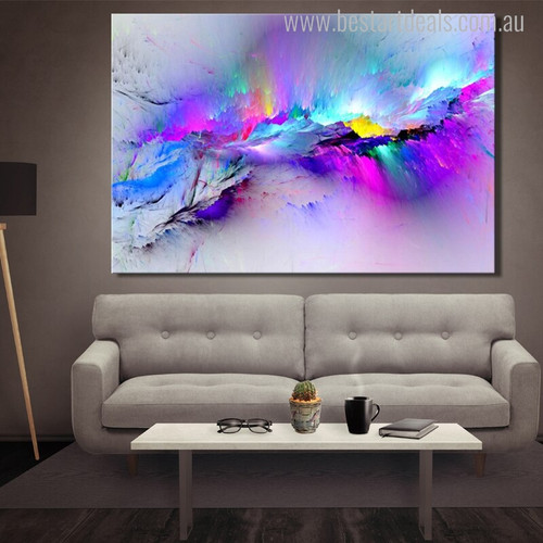 Dry Color Abstract Modern Painting Canvas Print for Living Room Wall Outfit
