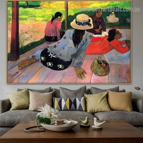 Siesta Paul Gauguin Figure Landscape Post Impressionism Portrait Image Canvas Print for Room Wall Ornament
