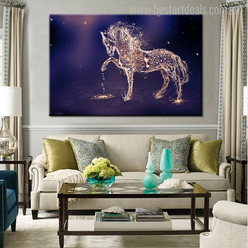 Galaxy Abstract Animal Modern Canvas Artwork Picture Print for Living Room Wall Adornment