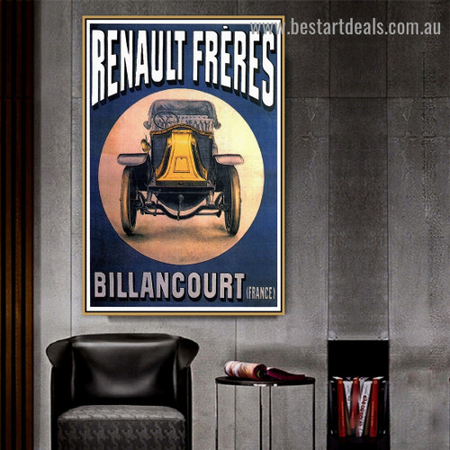 Renault Freres Vintage Travel Reproduction Retro Advertisement Poster Artwork Image Canvas Print for Room Wall Garniture
