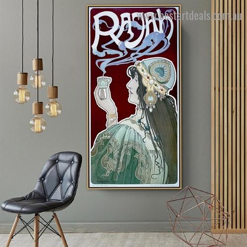Rajah Henri Privat Livemont Vintage Figure Reproduction Advertisement Poster Artwork Photo Canvas for Room Wall Decoration