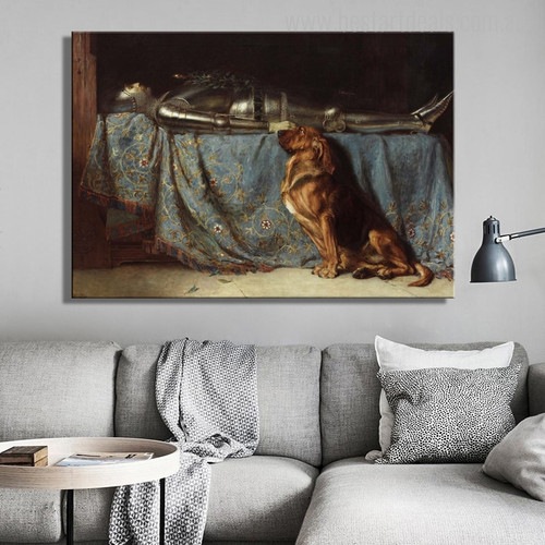 Requiescat Animal Mix Artists Painting Canvas Print for Home Wall Onlay