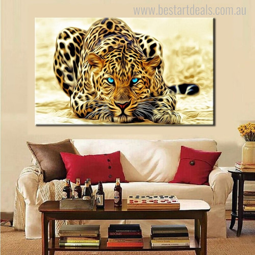 Leopard Animal Modern Painting Picture Print for Living Room Wall Garniture