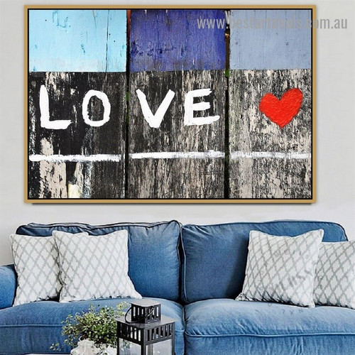 Love Typography Graffiti Artwork Painting Canvas Print for Room Wall Garniture