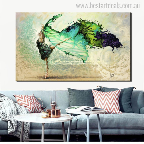 Dancing Colleen Abstract Figure Handmade Painting Picture Canvas Print for Living Room Wall Decor