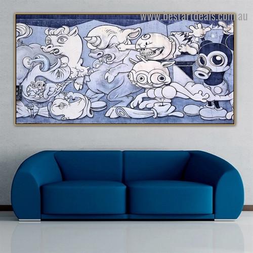 Ghosts Fantasy Kids Graffiti Artwork Image Canvas Print for Room Wall Decoration