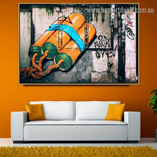 Defusable Bomb Abstract Typography Graffiti Artwork Picture Canvas Print for Room Wall Ornament