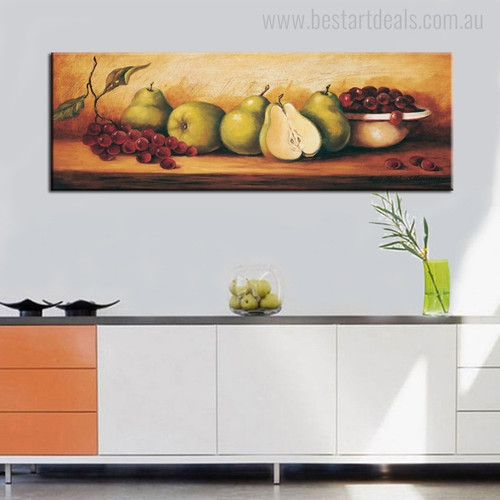 Table Vintage Food and Beverage Painting Portrait Print for Kitchen Wall Outfit