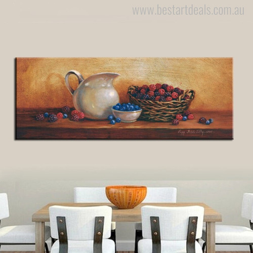 Jug Vintage Food and Beverages Canvas Artwork Picture Print for Dining Room Wall Garnish