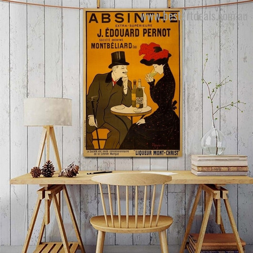 Absinthe Vintage Figure Reproduction Advertisement Poster Artwork Photo Canvas Print for Room Wall Garnish