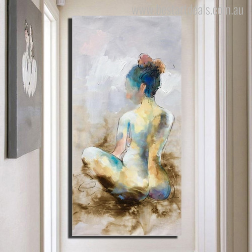 Woman Abstract Watercolor Figure Painting Canvas Print for Wall Art Decor