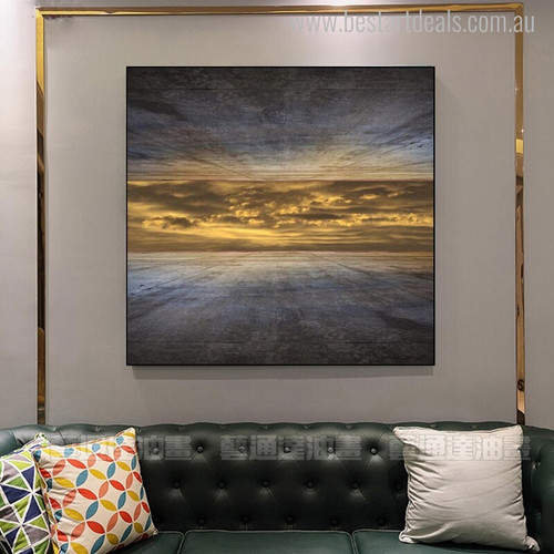 Sky Abstract Landscape Modern Painting Picture Print for Living Room Wall Getup