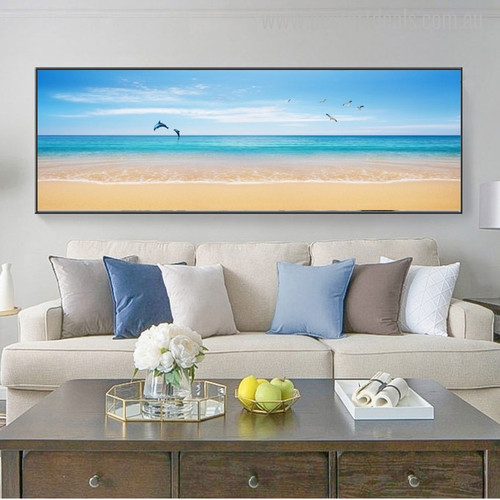 Mare Panoramic Seascape Nature Painting Photo Print for Living Room Adornment