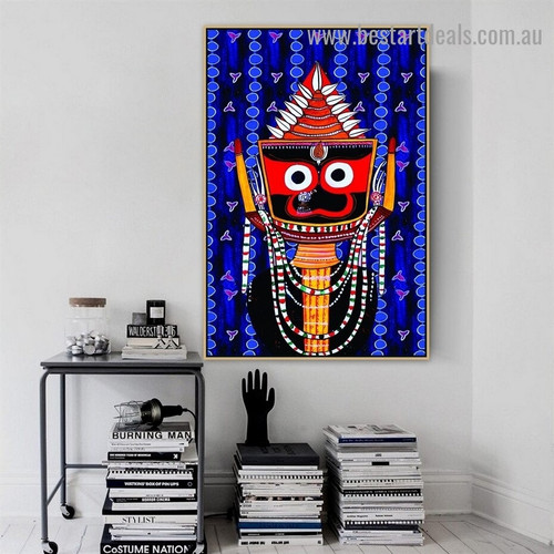 Shree Jagannath Religious Traditional  Artwork Picture Canvas Print for Room Wall Adornment