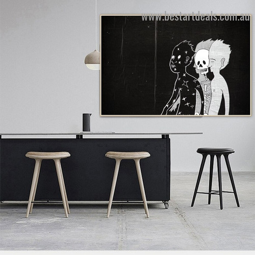 Abstract Human Soul Figure Graffiti Artwork Picture Canvas Print for Room Wall Décor