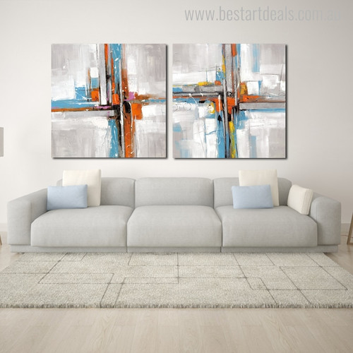 Motley Abstract Modern Canvas Artwork Image Print for Room Wall Getup