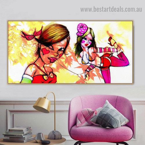 Character Fafi Girl Abstract Figure Graffiti Artwork Picture Canvas Print for Room Wall Decor