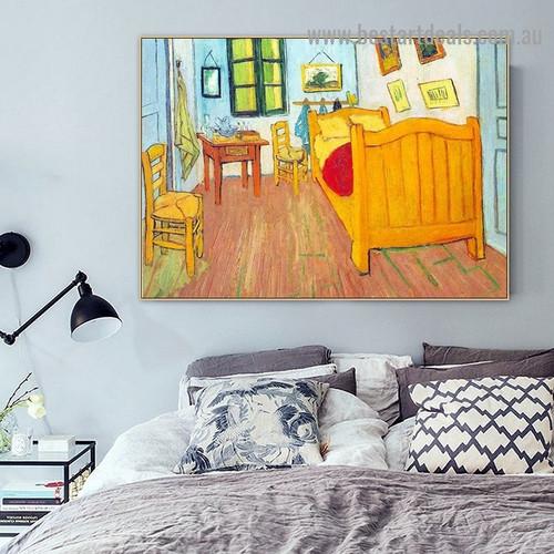 Vincent's Bedroom in Arles Vincent Van Gogh Still Life Post Impressionism Artwork Photo Canvas Print for Room Wall Adornment