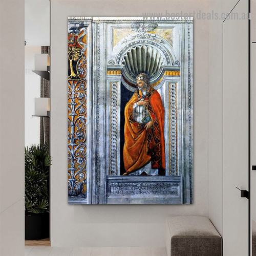 Sixtus II Sandro Botticelli Religious Early Renaissance Reproduction Artwork Image Canvas Print for Room Wall Decoration