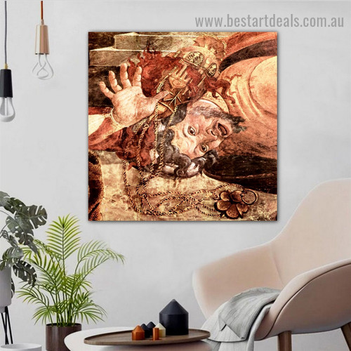 The Punishment of Korah Dathan and Abiram Sandro Botticelli Religious Figure Early Renaissance Reproduction Artwork Photo Canvas Print for Room Wall Adornment