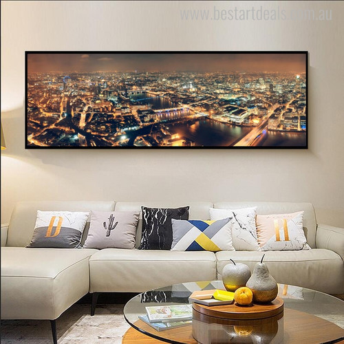 London Modern Cityscape Painting Picture Print for Room Wall Adornment