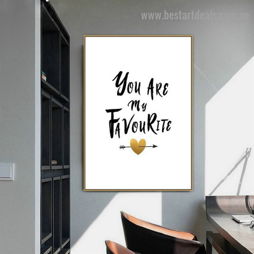 Heart with Arrow Modern Quote Framed Portrait Image Canvas Print for Room Wall Flourish