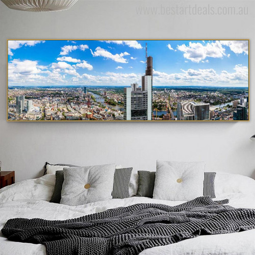 Frankfurt Modern Cityscape Painting Picture Print for Room Wall Decor