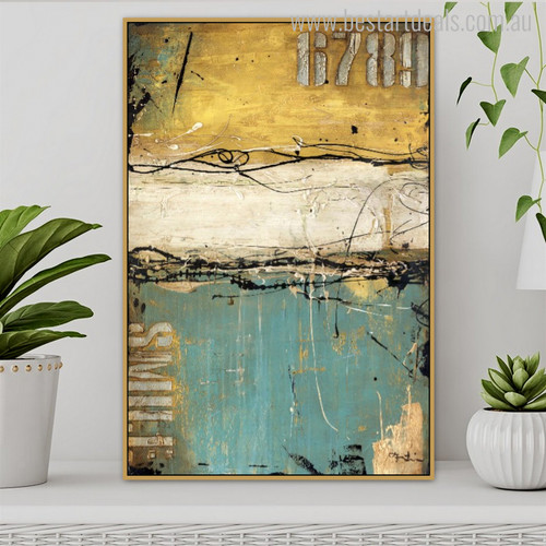 Wiggly Abstract Modern Painting Photo Print for Home Wall Outfit