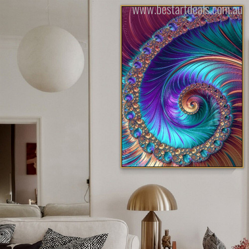 Fractal Art Abstract Contemporary Painting Print for Home Wall Flourish