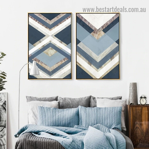 Abstract Triangle Modern Framed Portrait Painting Canvas Print for Room Wall Ornament