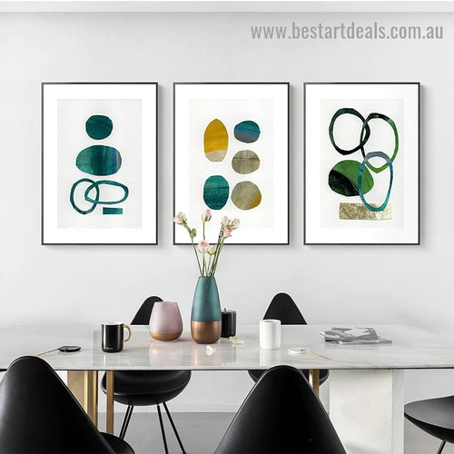 Spheral Blemish Abstract Watercolor Framed Artwork Photo Canvas Print for Room Wall Decoration