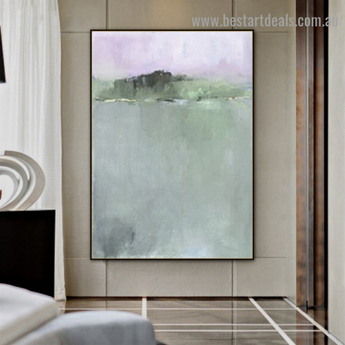 Multicolored Abstract Vintage Framed Artwork Image Canvas Print for Room Wall Garnish