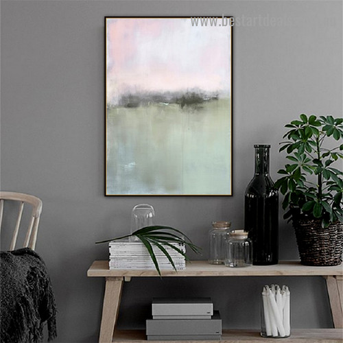 Colorful Art Abstract Vintage Framed Portrait Image Canvas Print for Room Wall Flourish