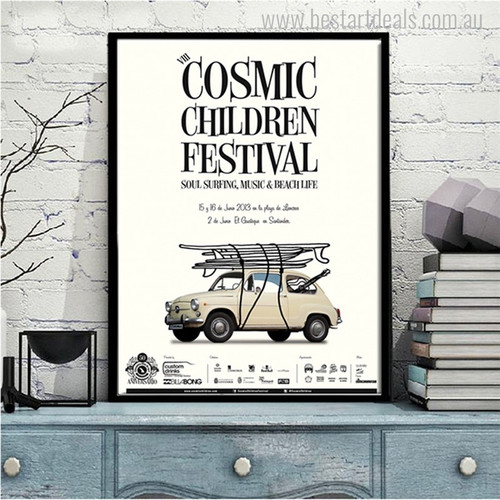 Cosmic Children Quotes Modern Art Canvas Print for Lounge Room Wall Drape