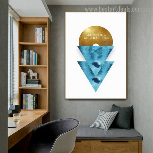 Geometric Abstraction Typography Modern Framed Artwork Image Canvas Print for Room Wall Garniture