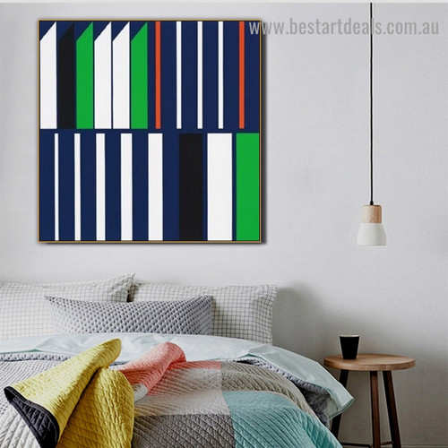 Bold Straight Trails Abstract Modern Framed Portrait Photo Canvas Print for Room Wall Adornment