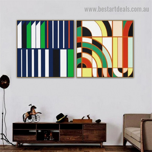 Bold Straight Mark Abstract Modern Framed Artwork Image Canvas Print for Room Wall Adornment