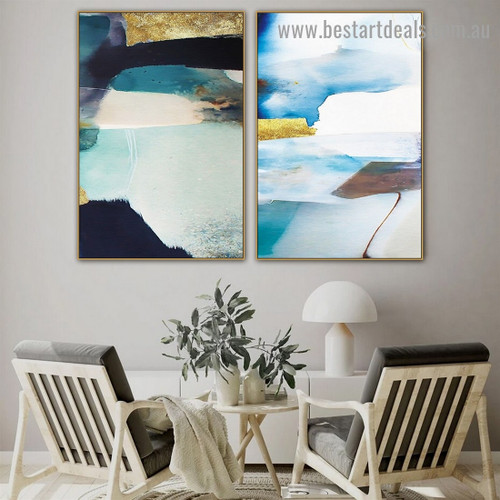 Multicolor Marble Abstract Scandinavian Framed Artwork Image Canvas Print for Room Wall Garnish