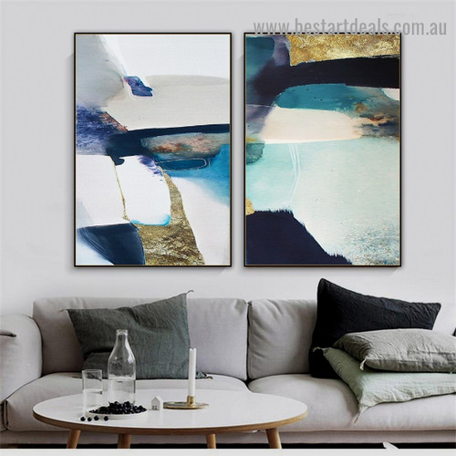 Hued Abstract Marble Scandinavian Framed Portrait Picture Canvas Print for Room Wall Drape
